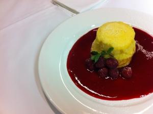 Vanilla pudding souffle - scrumptious!