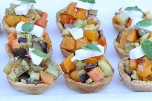 Roast vege tartlets