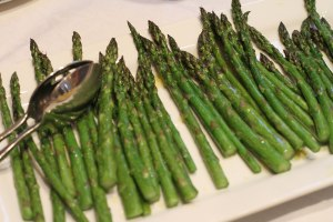 Unadulterated asparagus - (the hollandaise is just out of view)