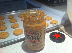 Peanut Butter Cookies in the making