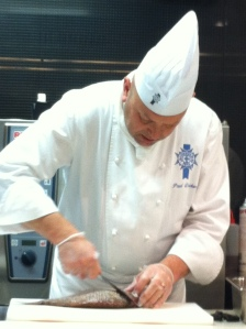 Chef Paul demonstrating the filleting