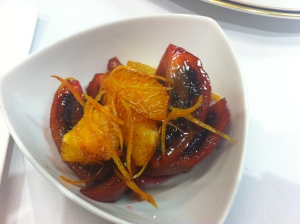 Orange and tamarillo compote