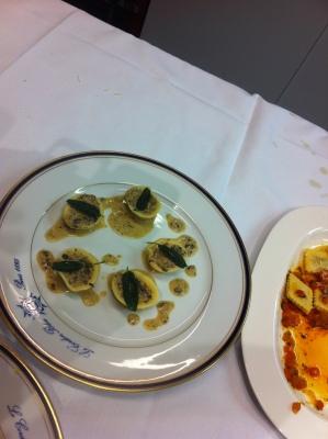 Tortellini with cream sauce