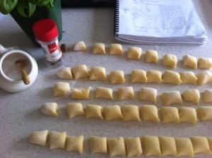 squares of gnocchi