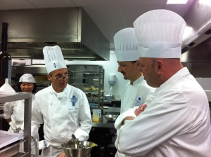 Chef Francis, Chef Sebastien and Chef Paul